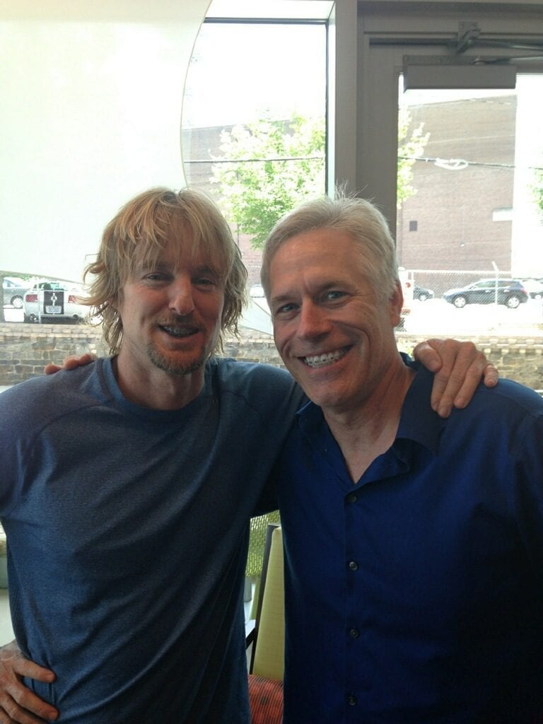 Owen Wilson and Dr. Roeder, preparing for Owen's role in Masterminds