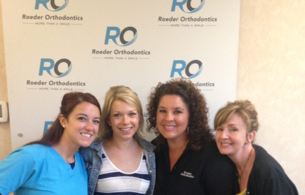 The Roeder Orthodontics team with Mary Elizabeth Ellis