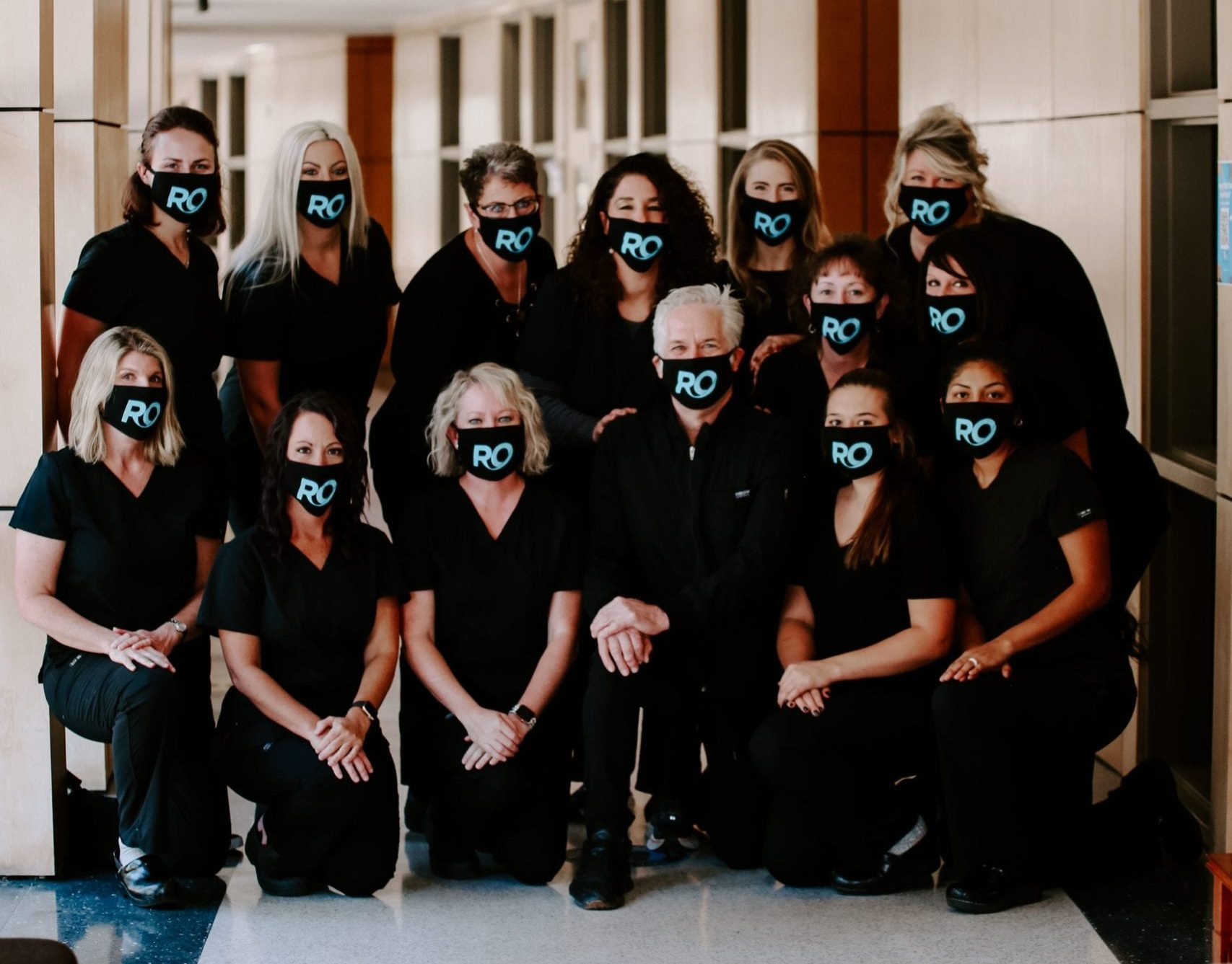 Roeder Orthodontics team wearing masks