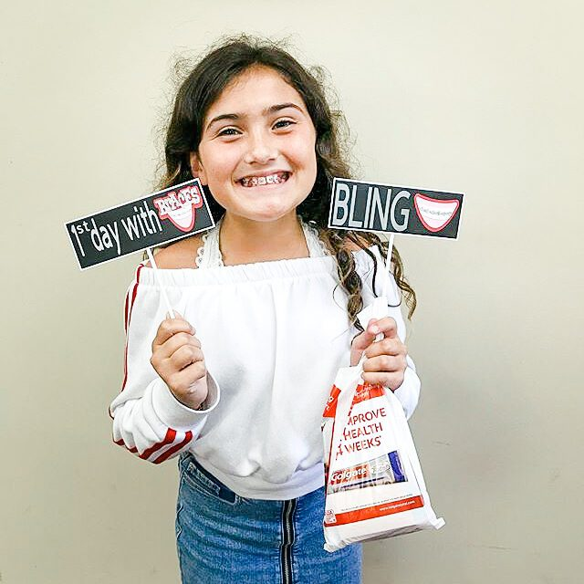 Smile Experience patient on their first day with braces