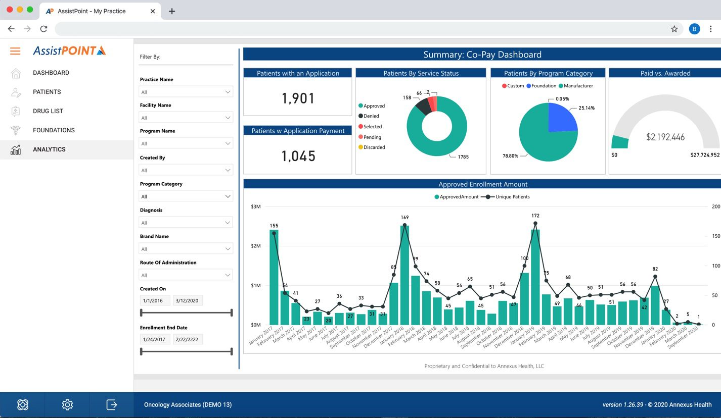 Screenshot of Analyze functionality of AssistPoint - Screen 7