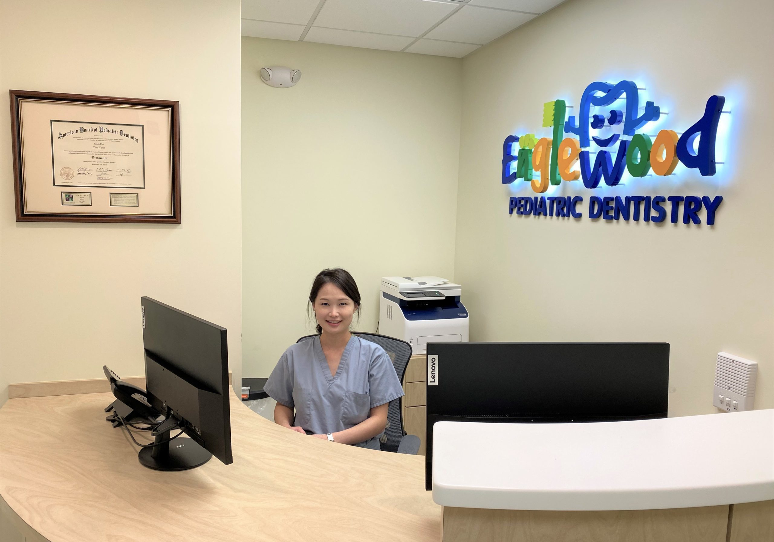 Dr. Yoon in reception