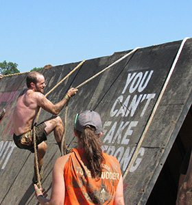 Dr. Justin in tough mudder